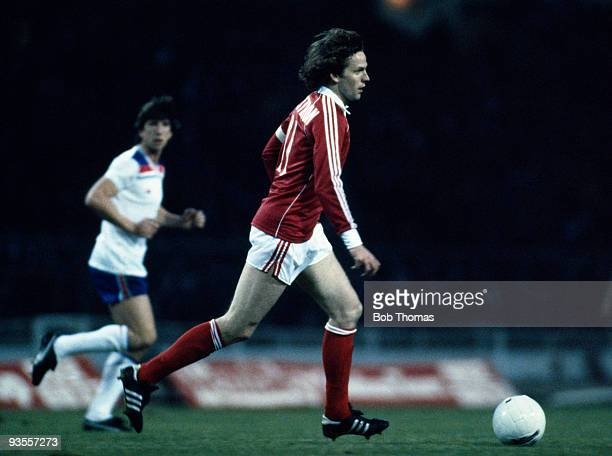 Rene Botteron of Switzerland in action during the England v Switzerland World Cup Qualifying match held at Wembley Stadium London on 19th November...