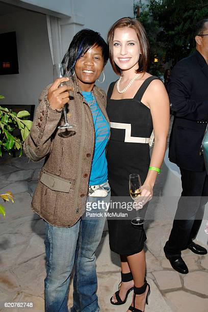 Rene Bowers and Brittany Hastings attend Gibson Through The Lens Photo Exhibit at Sunset Marquis Hotel on July 30 2008 in West Hollywood CA