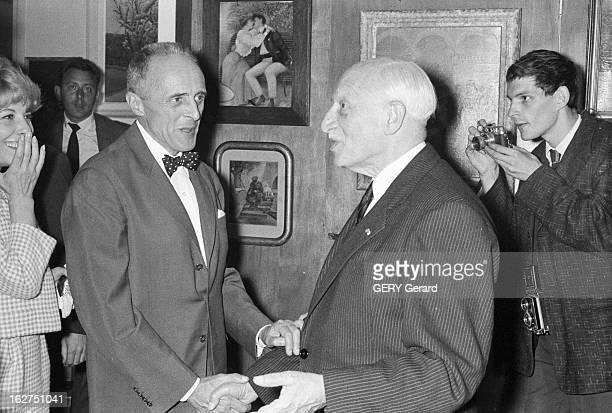 Rene Clair Elected At The French Academy Paris le réalisateur René CLAIR élu à l'Académie Française le 16 juin 1960 lors d'une réception L'écrivain...