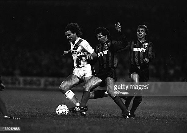 Rene Eijkelkamp of FC Groningen during the Europa Cup 3 match between FC Groningen and Xamax Neuchatel on october 22 1986 in Groningen The Netherlands