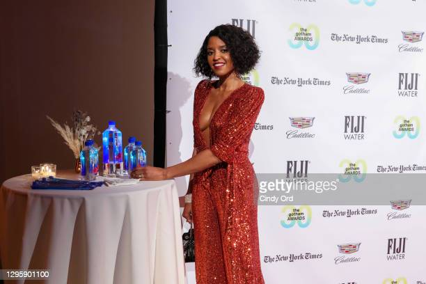 Renée Elise Goldsberry attends the 30th Annual Gotham Awards with FIJI Water at Cipriani Wall Street on January 11, 2021 in New York City.