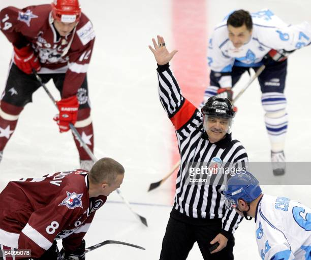 Rene Fasel , President of the International Ice Hockey Federation in action during the match between World Ice Hockey Stars and HC Gazprom Export at...