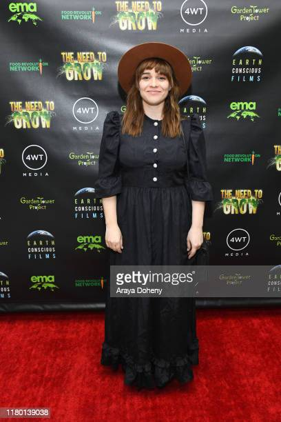 Renée Felice Smith at the LA Premiere Global Free Screening Launch of Rosario Dawson's EcoSolution Film The Need To GROW on October 09 2019 in Los...