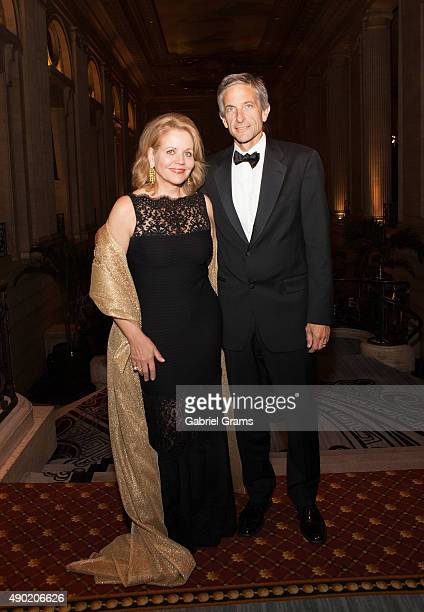 Renée Fleming and Tim Jessell attend the Lyric Opera Of Chicago's Opening Night Opera Ball on September 26 2015 in Chicago Illinois