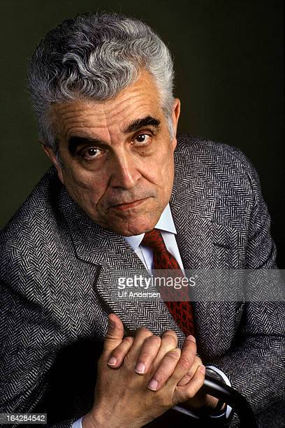 Rene Girard French philosopher poses during a portrait session held on September 20 1990 in Paris France