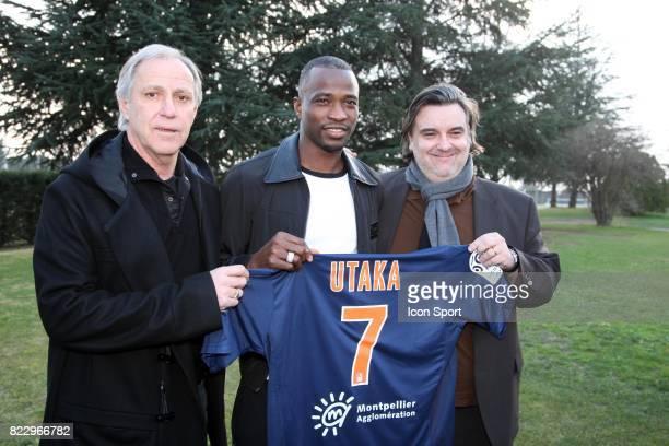 Rene GIRARD / John UTAKA / Laurent NICOLLIN - - Presentation a Montpellier - Ligue 1 - 2010/2011 -