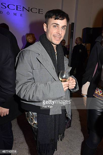 Rene Gloor attends the 'Diamond Night by Divinescence Vendome' Harumi Klossowska Jewellery Exhibition Preview As Part Of Art Paris Art Fair at the...
