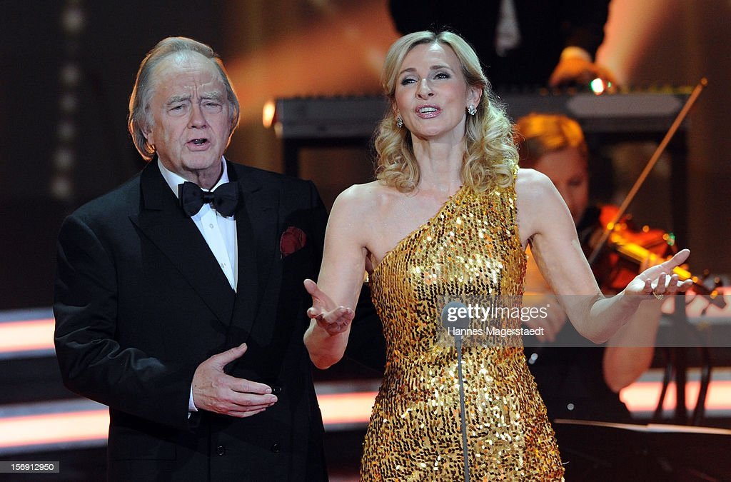Rene Kollo and Eva Lind attend the 'Heiligabend Mit Carmen Nebel' Show Taping at the Bavaria Studios on November 24, 2012 in Munich, Germany.