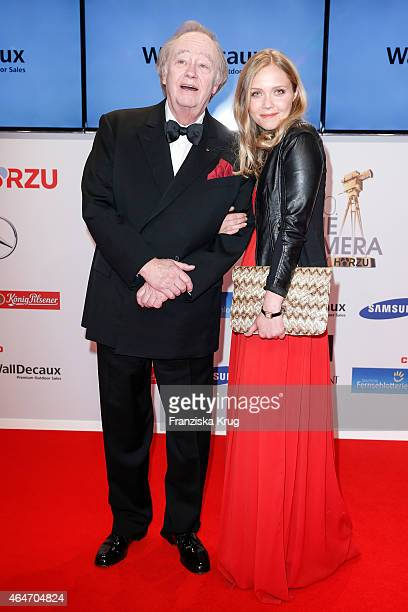 Rene Kollo and his daughter Florence Kollo attend the Goldene Kamera 2015 on February 27, 2015 in Hamburg, Germany.