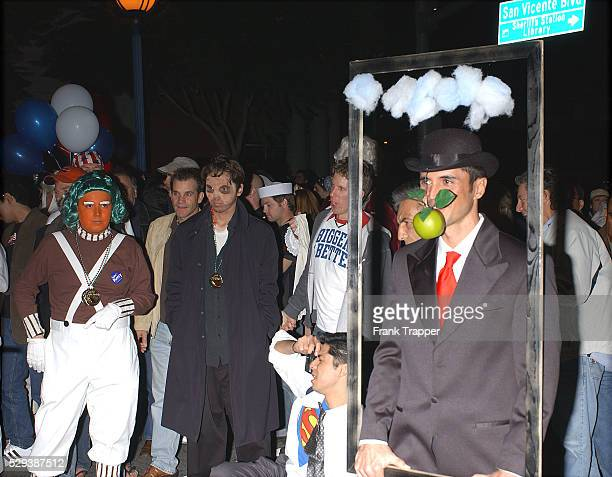 Rene Magritte Framed Painting costume at the West Hollywood Halloween Carnival
