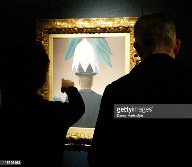 Rene Magritte's L'Okapi 250000 350000 during Press Preview for Sotheby's Important Series of Impressionist Contemporary Sales at Sotheby's in London...