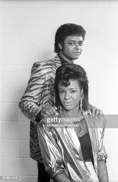 Rene Moore and Angela Winbush of the RB duo 'Rene Angela' pose for a portait session in circa 1982 in Los Angeles California