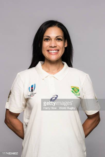 Rene Naylor of South Africa backroom staff poses for a portrait during the South Africa Rugby World Cup 2019 squad photo call on September 15 2019 in...