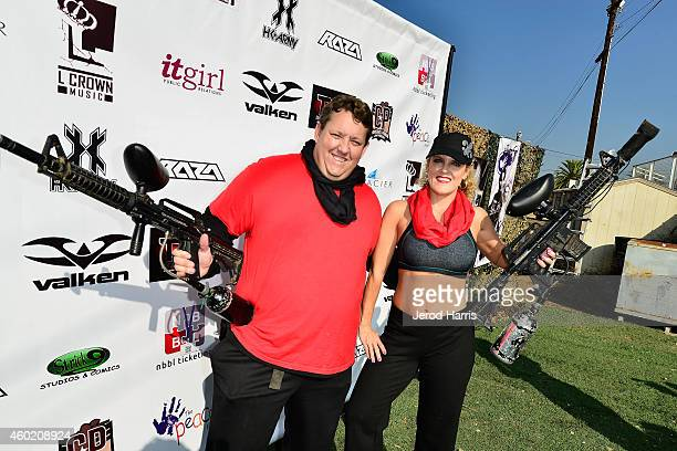Rene Nezhoda and Casey Nezhoda attend PEACE Fund's 1st annual celebrity paintball tournament at Camp Pendleton on December 7 2014 in Oceanside...