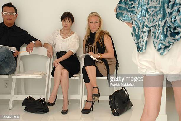 Renée Niño de Rivera and Patricia Marci attend CHRISTIAN COTA Spring 2008 Presentation at 215 W 40th Street on September 12 2007 in New York City