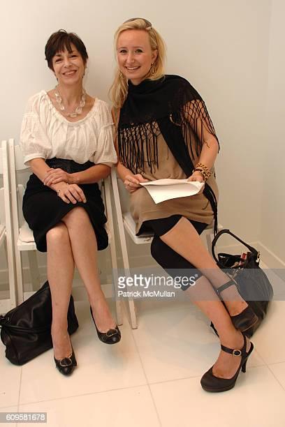 Renée Niño de Rivera and Patricia Marci attend CHRISTIAN COTA Spring 2008 Presentation at 215 W 40th Street on September 12 2007 in New York City