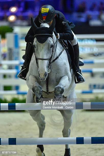 Rene of Colombia rides Big Brother during the Grand Prix EQUITA MASTERS Longines FEI World Cup at in the EQUITA Lyon