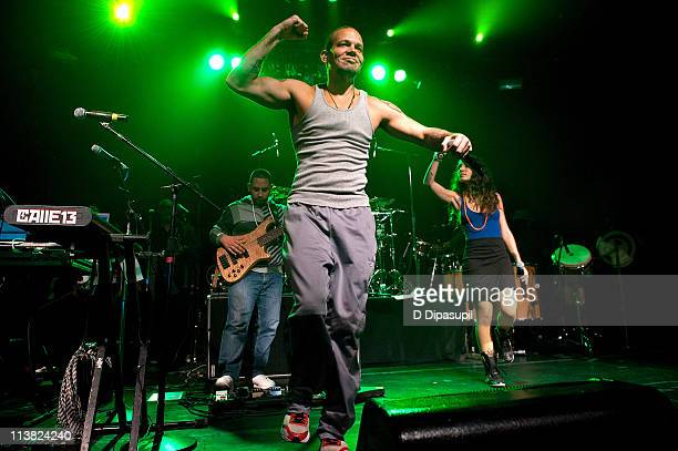 Rene Perez Joglar aka Residente and Ileana Cabra Joglar aka PG13 of Calle 13 perform at Irving Plaza on May 6 2011 in New York City