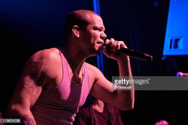 Rene Perez Joglar aka Residente of Calle 13 performs at Irving Plaza on May 6 2011 in New York City