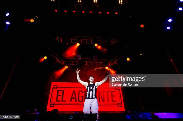 Rene Perez Joglar from Residente performs in concert during Rio Babel Music Festival on July 15 2017 in Madrid Spain