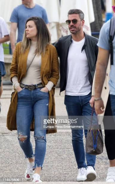 Rene Ramos and Lorena Gomez are seen on April 21 2019 in Madrid Spain