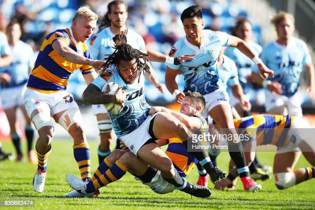 Rene Ranger of Northland charges forward during the round one Mite 10 Cup match between Northland and Bay of Plenty at Toll Stadium on August 20 2017...