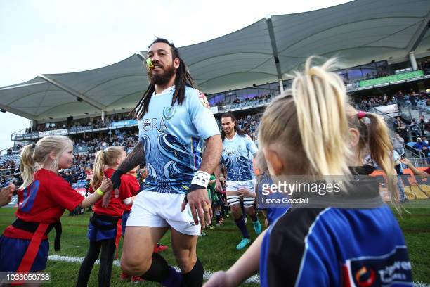 Rene Ranger of Northland runs out during the round five Mitre 10 Cup match between Northland and Manawatu at Toll Stadium on September 14 2018 in...