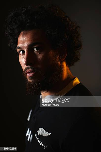 Rene Ranger of the All Blacks poses during a New Zealand All Blacks portrait session at The Heritage Hotel at The Heritage Hotel on June 3 2013 in...