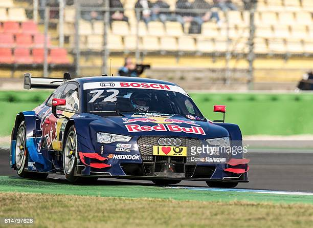 Rene Rast of Germany and Audi Sport Team Phoenix drives during qualifiying prior to the first race at the DTM 2016 German Touring Car Championship at...