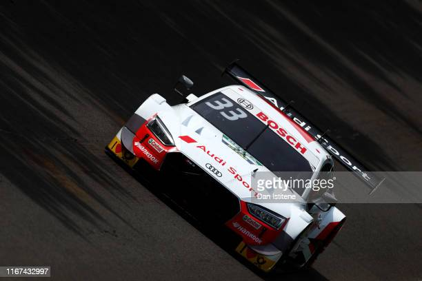 Rene Rast of Germany and Audi Sport Team Rosberg drives his Audi RS 5 DTM during the DTM Race 2 at Brands Hatch on August 11 2019 in Longfield England