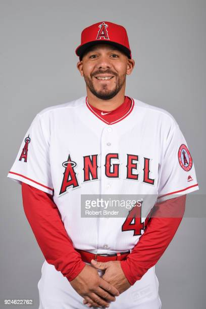 Rene Rivera of the Los Angeles Angels poses during Photo Day on Thursday February 22 2018 at Tempe Diablo Stadium in Tempe Arizona