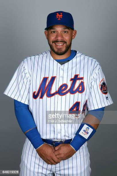 Rene Rivera of the New York Mets poses during Photo Day on Wednesday February 22 2017 at Tradition Field in Port St Lucie Florida