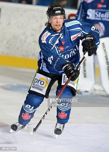 Rene Roethke of Straubing Tigers during the action shot on August 19, 2016 in Straubing, Germany.