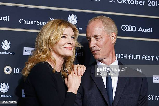 Rene Russo and Dan Gilroy attend the 'Nightcrawler' Green Carpet Arrivals during Day 6 of Zurich Film Festival 2014 on September 30 2014 in Zurich...