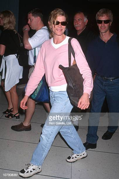 Rene Russo and Dan Gilroy during Rene Russo Sighting at LAX June 15 1997 at Los Angeles International Airport in Los Angeles California United States