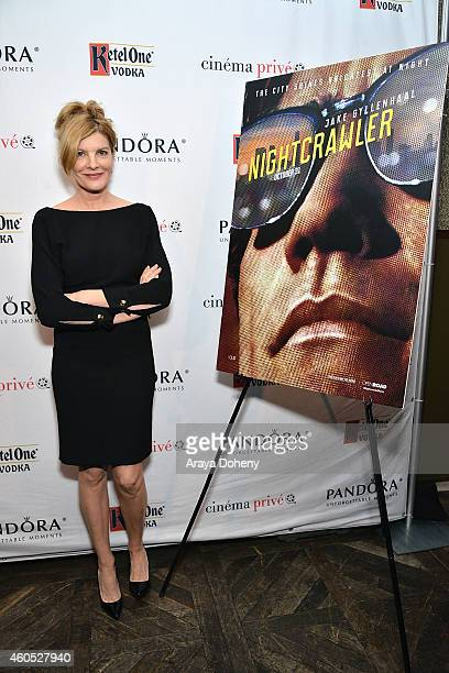 Rene Russo attends cinema prive and PANDORA Jewelry host a special screening of 'Nightcrawler' featuring Ketel One Vodka Cocktails on December 15...