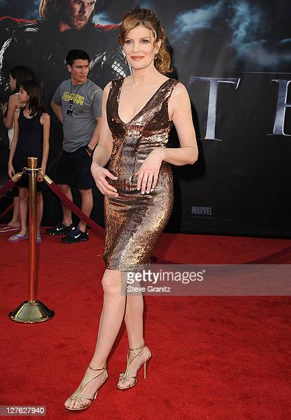 Rene Russo attends the Thor Los Angeles Premiere at the El Capitan Theatre on May 2 2011 in Hollywood California