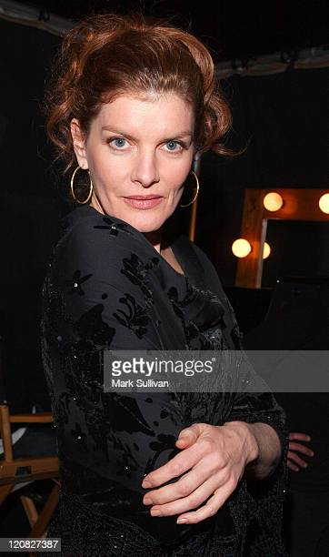 Rene Russo during Backstage Creations 2004 Home For The Holidays CBS Special The Talent Retreat at Ren Mar Studios in Hollywood California United...