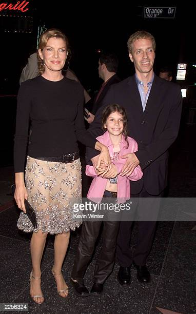 Rene Russo husband Danny Gilroy and daughter Rose at the premiere of Showtime at the Chinese Theater in Los Angeles Ca Monday March 11 2002 Photo by...