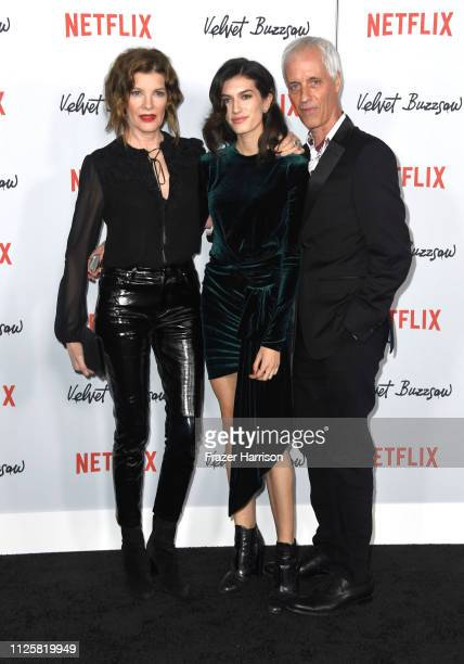 Rene Russo Rose Gilroy and Dan Gilroy attend the Los Angeles Premiere Screening Of Velvet Buzzsaw at American Cinematheque's Egyptian Theatre on...