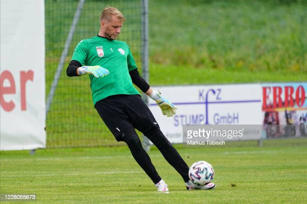 Rene Swete of Hartberg during the Friendly match between TSV prolactal Hartberg and FC Banik Ostrava at RM-Stadion on August 15, 2020 in St.Johann in...