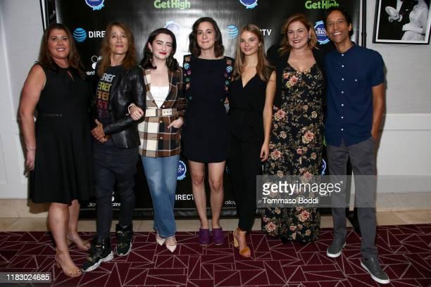 Rene Weaver, Anne Ramsay, Abby Quinn, Laura Terruso, Stefanie Scott, Jenica Bergere and Danny Pudi attend the DIRECTV Cinema & Warner Bros. Present...