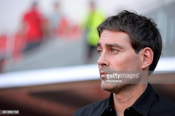 Rene Weiler head coach of RSC Anderlecht pictured during europa league match play off between RSC Anderlecht and Slavia Prague on August 18, 2016 in...