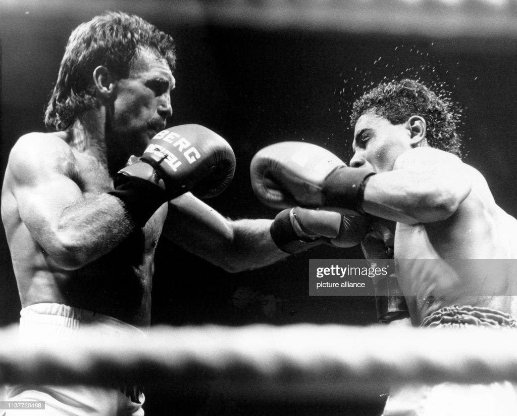 Boxen: Rene Weller gegen Jose Maillot 1988 : News Photo