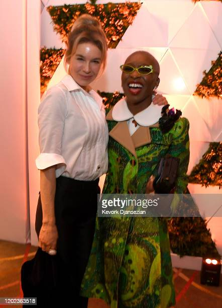Renée Zellweger and Cynthia Erivo attend the 92nd Oscars Nominees Luncheon on January 27, 2020 in Hollywood, California.