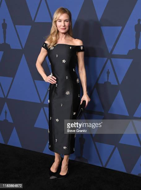 Renée Zellweger arrives at the Academy Of Motion Picture Arts And Sciences' 11th Annual Governors Awards at The Ray Dolby Ballroom at Hollywood...