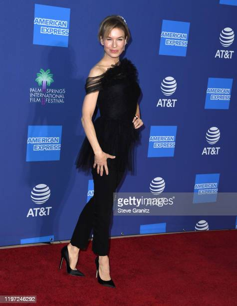 Renée Zellweger arrives at the Annual Palm Springs International Film Festival Film Awards Gala on January 02, 2020 in Palm Springs, California.