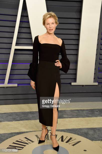 Renée Zellweger attends the 2019 Vanity Fair Oscar Party hosted by Radhika Jones at Wallis Annenberg Center for the Performing Arts on February 24,...