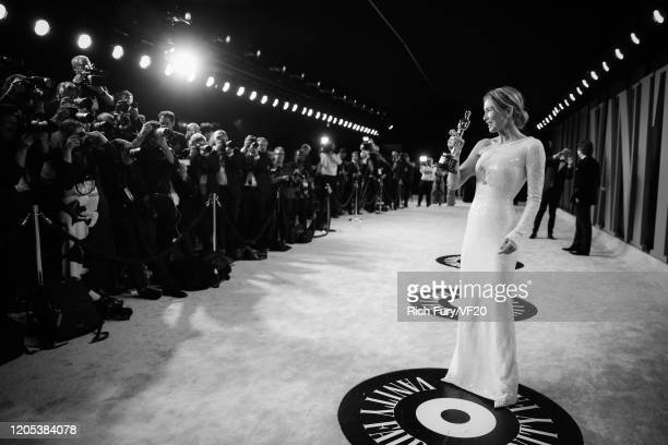 Renée Zellweger attends the 2020 Vanity Fair Oscar Party hosted by Radhika Jones at Wallis Annenberg Center for the Performing Arts on February 09...