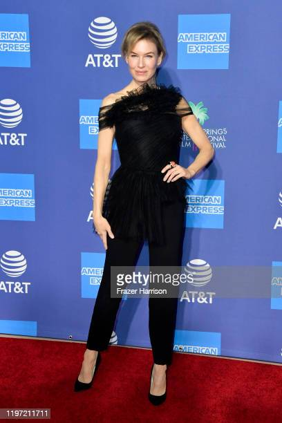 Renée Zellweger attends the 31st Annual Palm Springs International Film Festival Film Awards Gala at Palm Springs Convention Center on January 02...